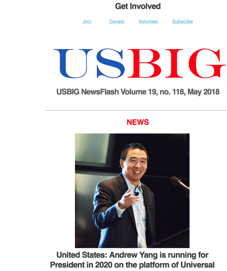 USBIG Newsflash, May 2018
