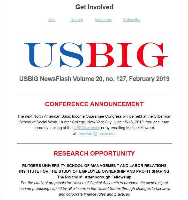 USBIG Newsflash, February 2019