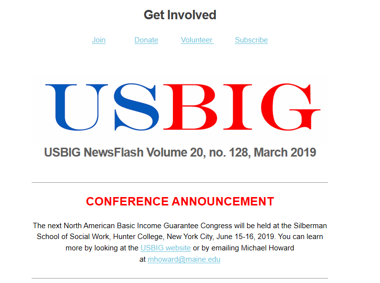 USBIG Newsflash, March 2019