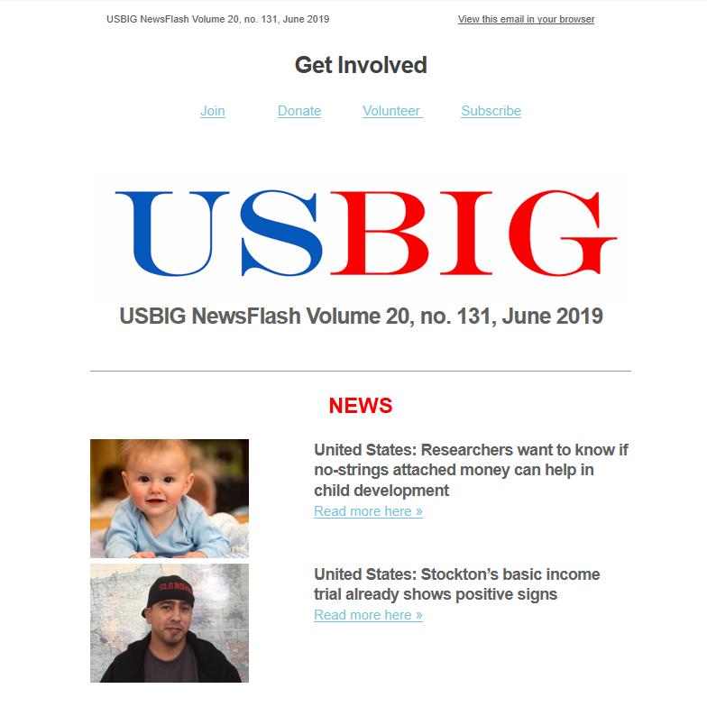 USBIG Newsflash, June 2019