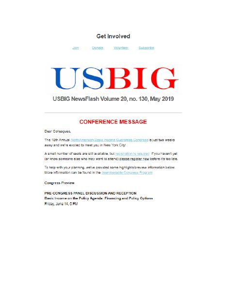 USBIG Newsflash, May 2019