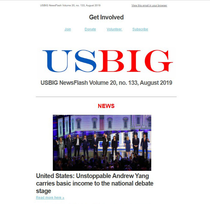 USBIG Newsflash, August 2019