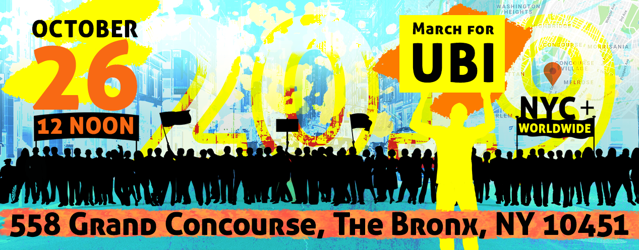 march for basic income October 26, 2019 in New York City