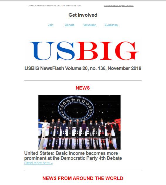 USBIG Newsflash, November 2019