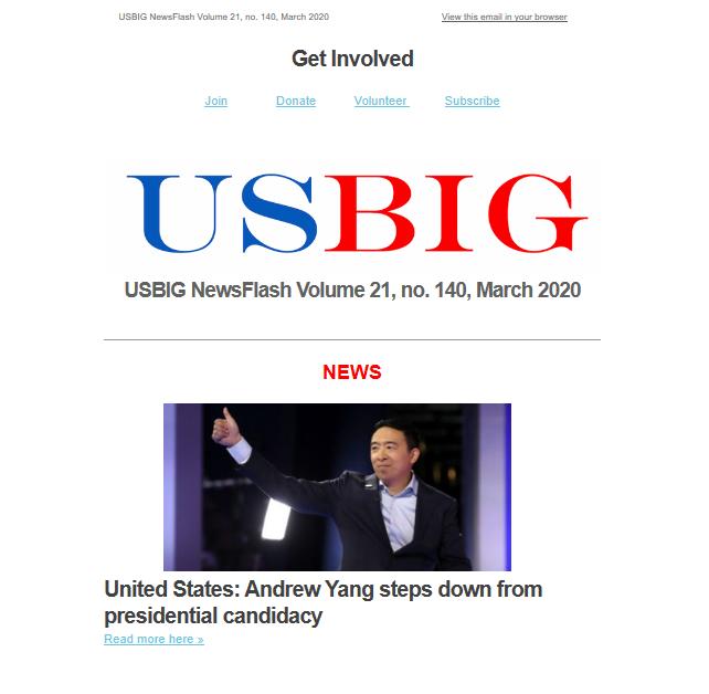 USBIG Newsflash, March 2020