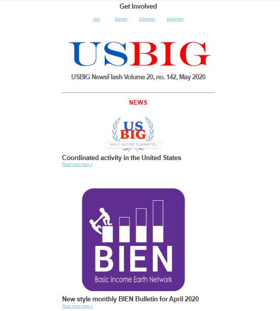 USBIG Newsflash, May 2020