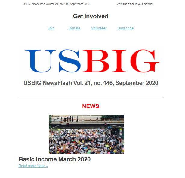 USBIG Newsflash, September 2020