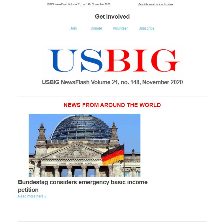 USBIG Newsflash, November 2020