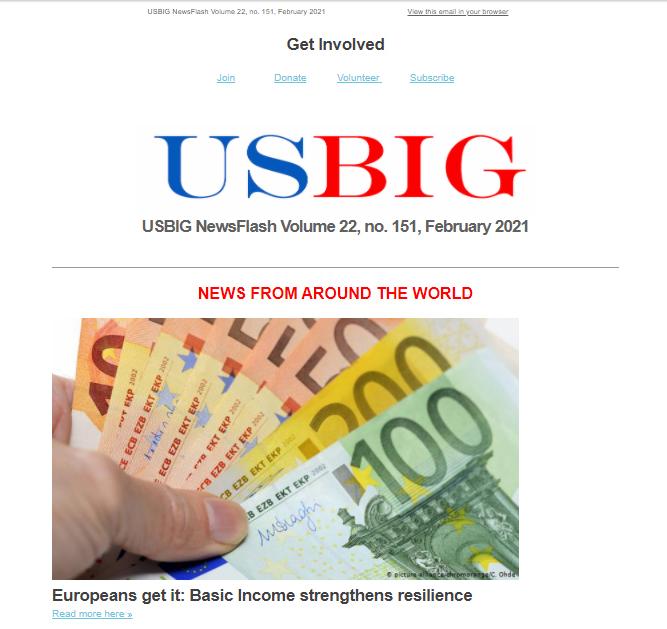 USBIG Newsflash, February 2021
