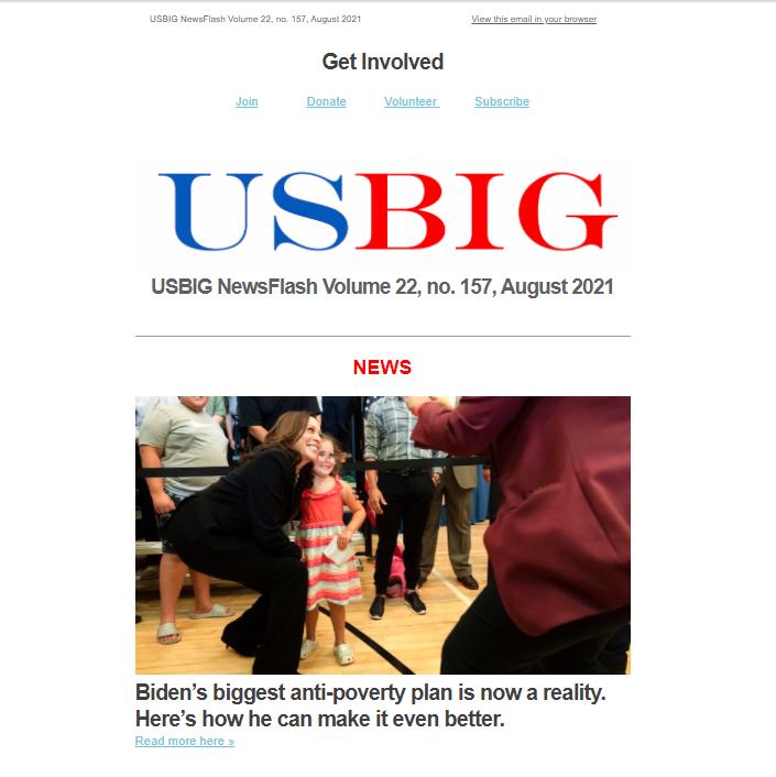 USBIG Newsflash, August 2021