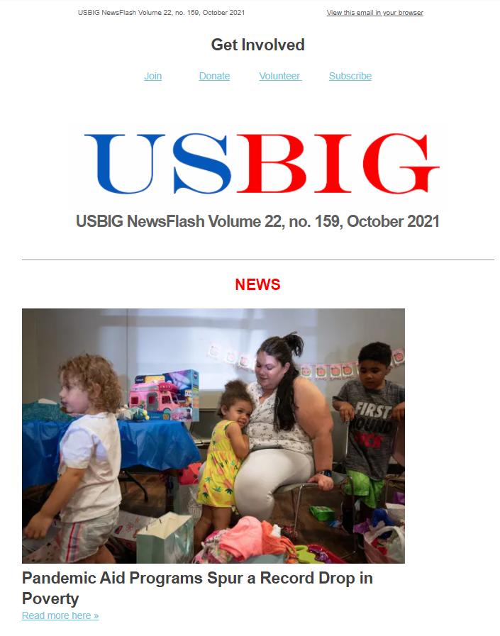 USBIG Newsflash, October 2021